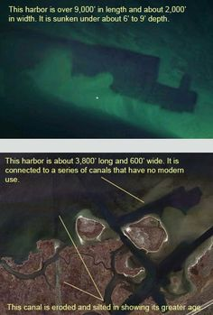 Ancient Canal builders -- Did a previous civilization of high technology build the harbors on the east coast of North America?