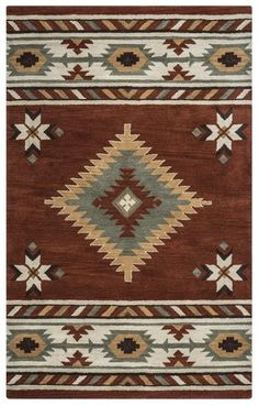 Our most popular Southwest rug! Rizzy Southwest SU1822 Rust Area Rug – Incredible Rugs and Decor