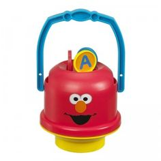 Sesame Street fans can blow bubbles with Elmo with the Sesame Street No-Spill Mini Bubble Bucket.