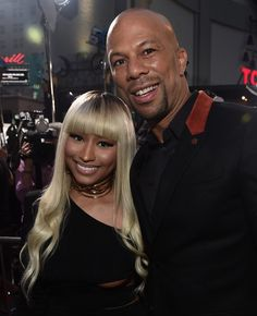 Nicki Minaj and Common attend the premiere of 'Barbershop: The Next Cut'