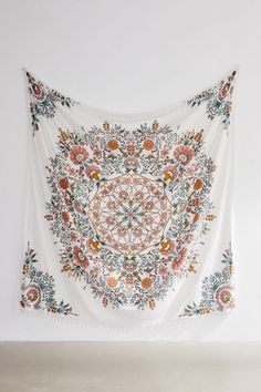 Shop Lara Floral Tapestry at Urban Outfitters today. Room Tapestry, Mandala Tapestry, Tapestry Floral, Boho Wall Tapestry, Small Tapestry, Wall Tapestries, Psychedelic Tapestry, Tapestry Design, Hanging Tapestry