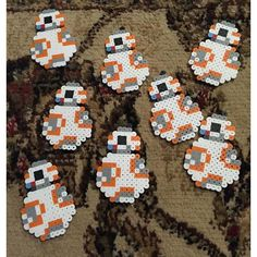 BB-8 Star Wars VII perler beads by sobbingminotaur