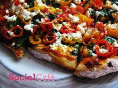 Pizza with Veggies and Feta | SocialCafe Magazine