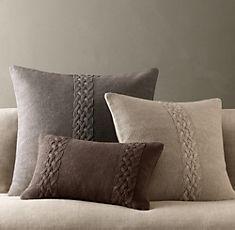 Restoration Hardware - Belgian Linen Knit Pillow Covers