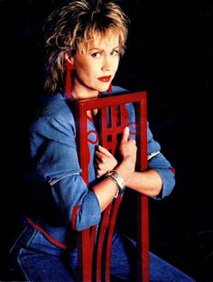"""Anna in 1987. """"Let It Shine"""" session. """"Let It Shine"""" was released as a single in 1988 with """"Maybe It Was Magic"""" on the B-side."""