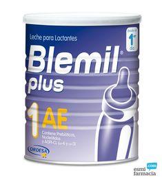 Blemil Plus 1 AE es una leche para lactantes con tendencia al estreñimiento que satisface completamente las necesidades nutritivas del recién nacido desde su nacimiento hasta el 6º mes de edad. #antiestreñimiento #blemilplusae #ordesa