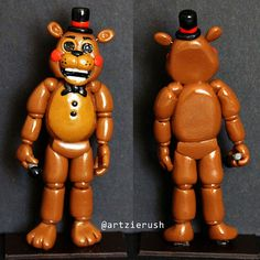 Toy Freddy Polymer Clay Figurine from Five Nights at by ArtzieRush