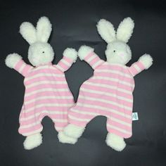 Little Jellycat Breton Bunny Baby Security Blanket Lovey Lot Of 2 Comforter Baby Security Blanket, Jellycat, Baby Blankets, Selling On Ebay, Wonderful Things, Baby Items, Comforters, Dinosaur Stuffed Animal, Goodies