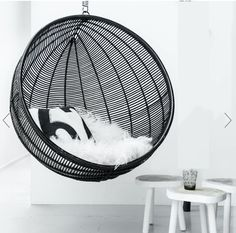 Bali Rattan Hanging Nest Ball Chair - Natural by Ciel - Fy Hanging Swing Chair, Hammock Chair, Swinging Chair, Rocking Chair, Swing Chairs, Hanging Chairs, Flexible Furniture, Unique Furniture, Furniture Design