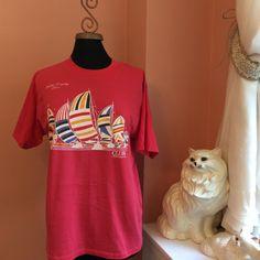 80s T-Shirt, Mills Trophy Race, Lake Erie, Toledo, Club Adventure, Tourist, Sailboat (B082)