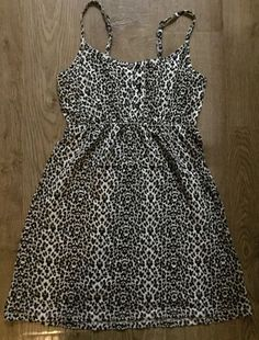 INTERNACIONALE BROWN BLACK LEOPARD STRAPPY PARTY DRESS SIZE 6 LADIES in Clothes…