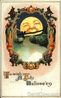 Vintage Halloween Postcards | Vintage Halloween postcard. | Halloween