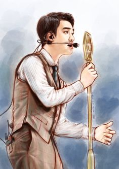 Kyungsoo, Kaisoo, Exo Cartoon, Exo Album, Exo Fan Art, Exo Do, Do Kyung Soo, Beige Aesthetic, Kpop Fanart