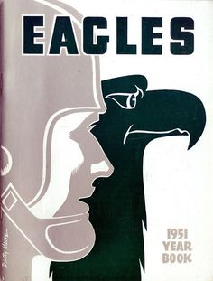 NFL Media Guide/Yearbook cover - Philadelphia Eagles 1951