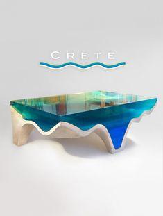 Shop Page – Eduard Locota – Sculpture Studio Wood Resin, Resin Art, Diy Resin Table, Verre Design, Resin Furniture, Island Design, Resin Crafts, Crete, A Table