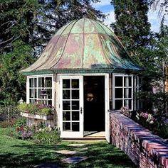 Gorgeous roof!-Enclosed Gazebo Ideas