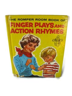 vintage children's book Romper Room Finger Plays by mudintheUSA #epsteam
