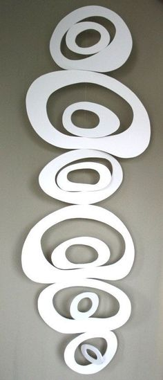 5.Make a vertical hanging sculpture using a quality tailored foamboard to add grace to your house. Use the best cutting tools to get a clear and even shape. http://www.foamboardsource.com/ #foamboard