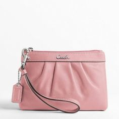 Love these. They are the perfect size for running around with the big kids  Coach Leather Pleated Wristlet