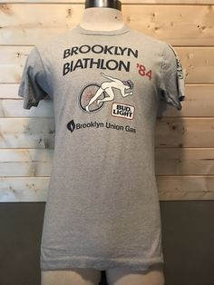 Vintage 1984 Bud Lite Biathalon Tourist 50/50 T-Shirt Made in USA by 413productions on Etsy