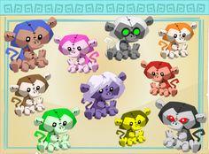 Monkey Plushie Chart!