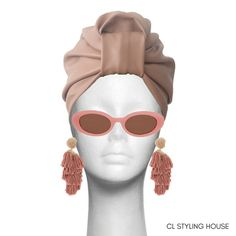 Handcrafted lined CL Nude Leather Stella Turban. How To Make Leather, Turbans, Cl, Headbands, Nude, Photoshoot, Sunglasses, Stylish, Beauty