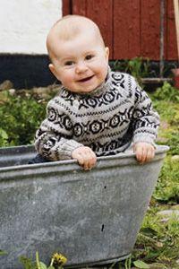 Mønsterstrik i miniformat Kids Knitting Patterns, Knitting For Kids, Free Knitting, Knitting Projects, Baby Knitting, Crochet Baby, Knit Crochet, Fair Isle Knitting, Baby Time