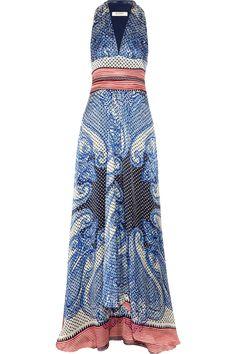 ETRO  Printed silk maxi dress - I love maxi dresses for the summer!