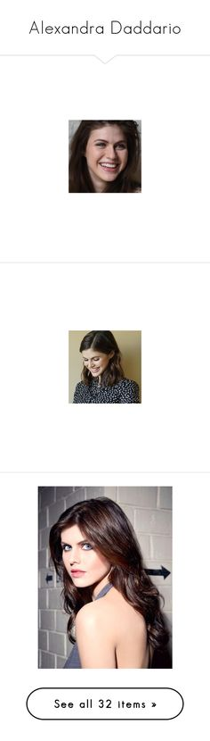 """""""Alexandra Daddario"""" by amyburns567 ❤ liked on Polyvore featuring pictures, alexandra daddario and people"""