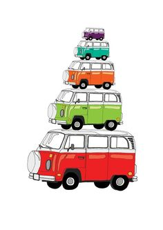 Kombi Stack print by Red Parka Designs $10