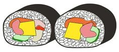 Ellen Wishart's Sushi diagrams for Time Out London, NY & Tokyo