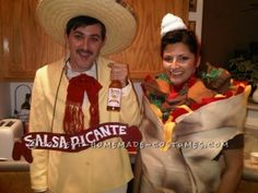 Tapitio Sauce Man and Burrito Girl Couple Costume… Coolest Halloween Costume Contest