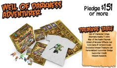 Preview of Well of Darkness Level Supporter Rewards for Kickstarter Campaign #GoblinsGame