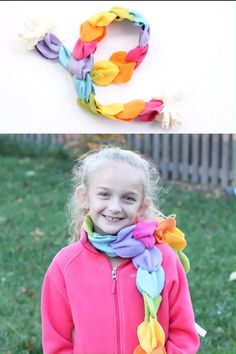 RAINBOW NO-SEW FLEECE SCARF! An awesome craft for kids they can make themselves. Great for homemade holiday gift ideas. This no-sew rainbow scarf is the perfect birthday or holiday gift kids can make! How-to video AND printable instructions below. Little Girl Crafts, Teen Girl Crafts, Diy Crafts For Girls, Winter Crafts For Kids, Preschool Winter, Diy Gifts For Kids, Fleece Crafts, Fleece Projects, Fabric Crafts