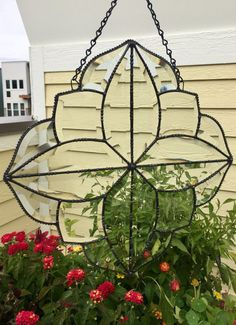 Items similar to Beveled Glass - Glass Art - Window Hanging - Sun Catcher - Clear Stained Glass - Hand Crafted - Clear - Antiqued Finish on Etsy Broken Glass Art, Sea Glass Art, Stained Glass Art, Stained Glass Windows, Window Glass, Glass Art Design, Antique Windows, Window Hanging, Beveled Glass
