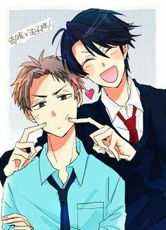 Masayuki Hori and Yuu Kashima Cute Anime Pics, Anime Love, Anime Guys, Vocaloid, Manga Anime, Monthly Girls' Nozaki Kun, Little Misfortune, Fanart, Gekkan Shoujo Nozaki Kun