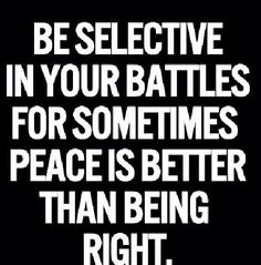 BE VERY SELECTIVE!!