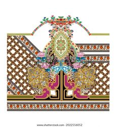 Digital Textile Design Ornament Pattern Stock Illustration 2022556052