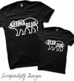 Mama Bear Shirt  Mother Son Shirt / Mothers Day by Scrapendipitees