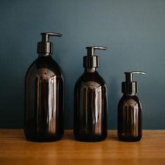 Create a more zero waste home with these reusable amber brown glass bottles to dispense range of products including hand soap, shampoo and washing up liquid. Brown Glass Bottles, Amber Bottles, Amber Glass Bottles, Small Bottles, Plastic Bottles, Glass Kitchen, Kitchen Sets, Kitchen Tools, Diy Soap At Home