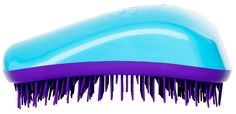 Turquoise and Purple Dessata Detangling Hairbrush