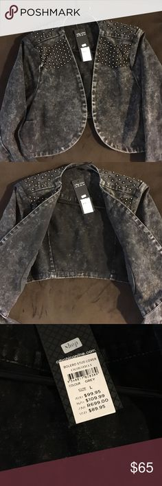 City Chic blue jean crop jacket Plus size Blue Jean jacket size L brand new with tags hot item City Chic Jackets & Coats Jean Jackets