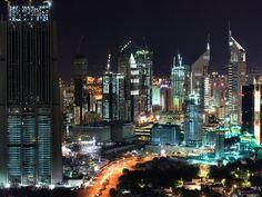 The Dubai skyline: A futuristic skyline