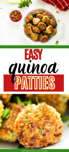 If you love meals that leave the whole family happy, you are going to love these Healthy Quinoa Cakes. This healthy gluten free recipe is so full of flavor. I am so happy that I found this deliciously easy meal. Gluten Free Recipes For Dinner, Healthy Gluten Free Recipes, Healthy Dinner Recipes, Vegetarian Recipes, Healthy Meats, Healthy Food, Best Quinoa Recipes, How To Eat Better, Broccoli