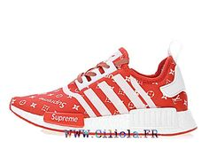 best loved 15f99 f9f97 Chaussures adidas Originals NMD R1 Prix Boost Pas cher HommeFemme Blanc  rouge BA7670-
