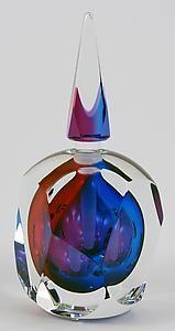 """""""Sierra Perfume Bottle""""  Art Glass Perfume Bottle    Created by Paul D. Harrie"""