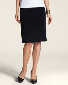 aae7c22ae Chico's Travelers Classic Seamed Pencil Skirt #chicos Chico Travelers,  Travel Clothes Women, Midi