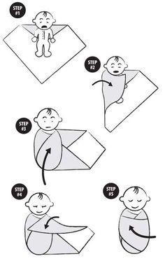 Como envolver a tu bebe. How to wrapping your new born.