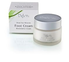 Foot Cream is a rich and revitalizing formulation, combining the therapeutic properties of Dead Sea Minerals  the antifungal benefits of Tea Tree Oil Extract, moisture-balancing Olive Oil and Shea Butter to restore the skin's elasticity.    List Price: $59.99  Our Price: $49.99