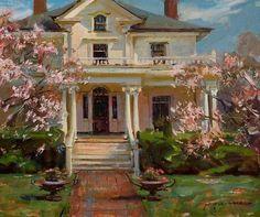 A Arte Romântica de Um Pintor Contemporâneo - Recebendo a primavera